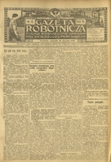 Gazeta Robotnicza, 1909, R. 19, nr 12