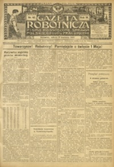 Gazeta Robotnicza, 1909, R. 19, nr 45