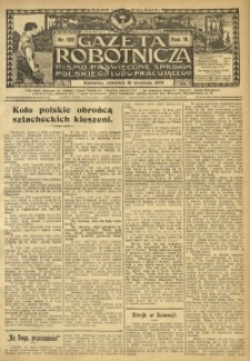 Gazeta Robotnicza, 1909, R. 19, nr 109