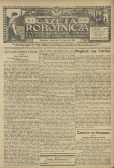 Gazeta Robotnicza, 1910, R. 20, nr 5
