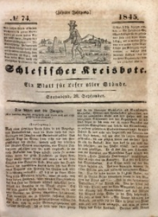 Schlesischer Kreisbote, 1845, Jg. 10, No. 74