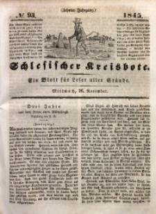 Schlesischer Kreisbote, 1845, Jg. 10, No. 93