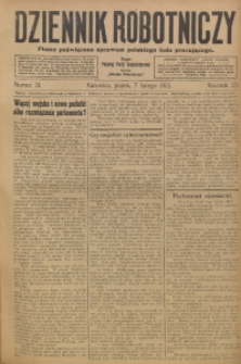 Dziennik Robotniczy, 1913, R. 23, nr 31