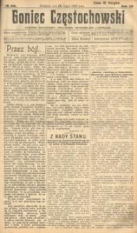 Goniec Częstochowski : dziennik polityczny, społeczny, ekonomiczny i literacki, 1918, R.12, Nr 143