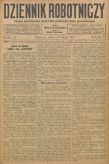 Dziennik Robotniczy, 1913, R. 23, nr 43