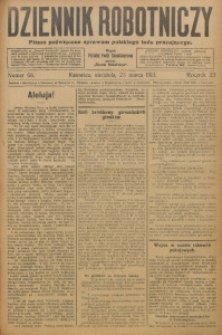 Dziennik Robotniczy, 1913, R. 23, nr 68