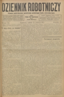 Dziennik Robotniczy, 1913, R. 23, nr 142