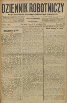 Dziennik Robotniczy, 1913, R. 23, nr 280