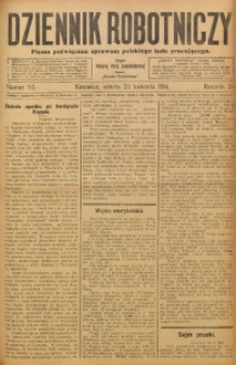 Dziennik Robotniczy, 1914, R. 24, nr 93