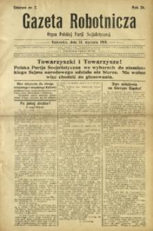 Gazeta Robotnicza, 1919, R. 24, nr 2