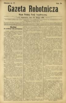 Gazeta Robotnicza, 1919, R. 24, nr 17