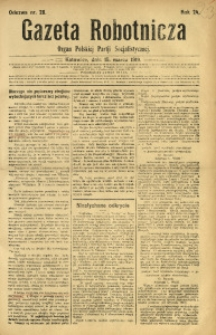 Gazeta Robotnicza, 1919, R. 24, nr 28