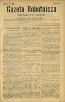 Gazeta Robotnicza, 1919, R. 24, nr 29