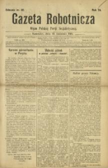 Gazeta Robotnicza, 1919, R. 24, nr 40