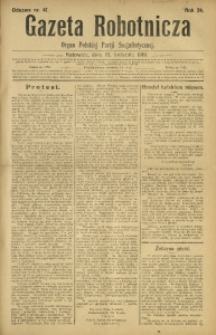 Gazeta Robotnicza, 1919, R. 24, nr 41