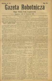 Gazeta Robotnicza, 1919, R. 24, nr 42