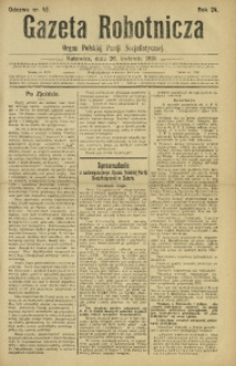 Gazeta Robotnicza, 1919, R. 24, nr 45