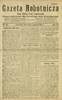 Gazeta Robotnicza, 1919, R. 24, nr 142