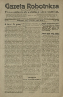 Gazeta Robotnicza, 1920, R. 25, nr 11