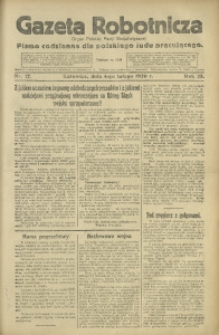 Gazeta Robotnicza, 1920, R. 25, nr 27