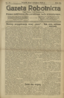 Gazeta Robotnicza, 1920, R. 25, nr 211
