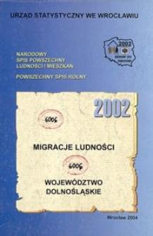 Migracje ludności 2002. Województwo dolnośląskie