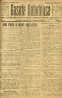 Gazeta Robotnicza, 1924, R. 29, nr 90