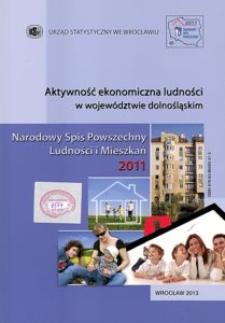 Aktywność ekonomiczna ludności w województwie dolnośląskim