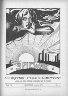 Śpiewak, 1926, R. 7, nr 4