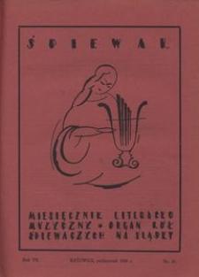 Śpiewak, 1926, R. 7, nr 10