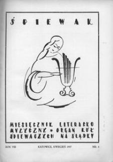Śpiewak, 1927, R. 8, nr 4