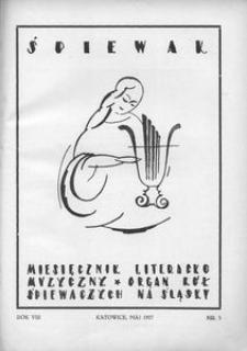 Śpiewak, 1927, R. 8, nr 5