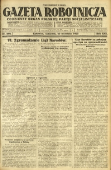Gazeta Robotnicza, 1925, R. 30, nr 206
