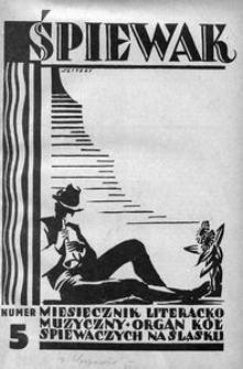 Śpiewak, 1928, R. 9, nr 5