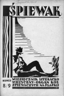 Śpiewak, 1928, R. 9, nr 8/9