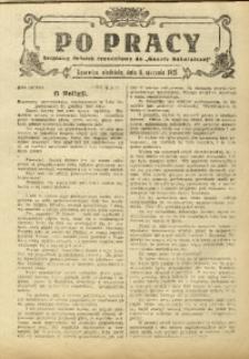 Po Pracy, 11 stycznia 1925