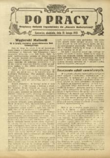 Po Pracy, 28 lutego 1925