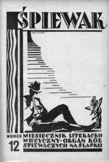 Śpiewak, 1928, R. 9, nr 12