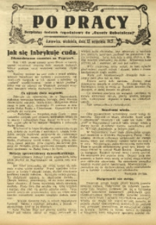 Po Pracy, 13 września 1925