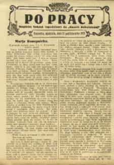 Po Pracy, 18 października 1925