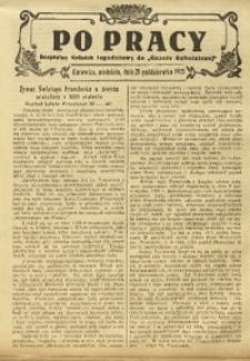 Po Pracy, 25 października 1925