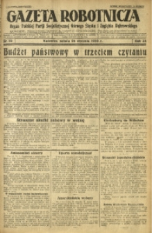 Gazeta Robotnicza, 1929, R. 34, nr 22