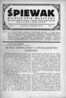 Śpiewak, 1929, R. 10, nr 4