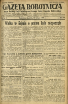 Gazeta Robotnicza, 1929, R. 34, nr 46