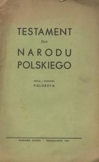 Testament dla narodu polskiego