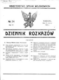 Dziennik Rozkazów, 1923, R. 6, nr 24