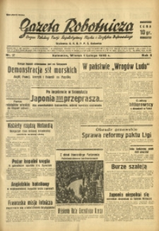 Gazeta Robotnicza, 1938, R. 5, nr 27