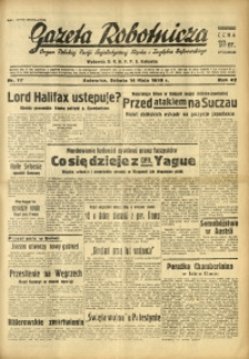 Gazeta Robotnicza, 1938, R. 42, nr 117