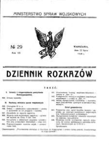 Dziennik Rozkazów, 1924, R. 7, nr 29