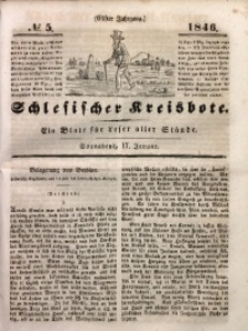 Schlesischer Kreisbote, 1846, Jg. 11, No. 5
